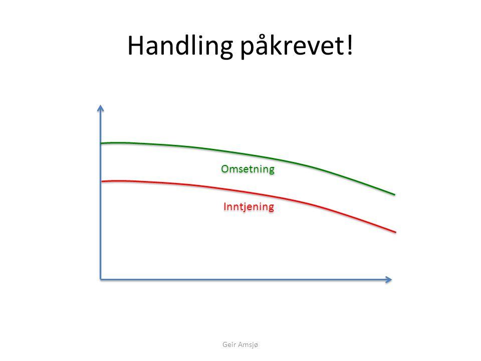 Øk salgsinnsatsen! Salgsinnsats Inntjening Supportinnsats Omsetning Geir Amsjø