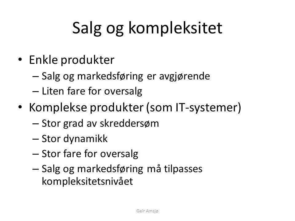 Handling påkrevet! Inntjening Omsetning Geir Amsjø