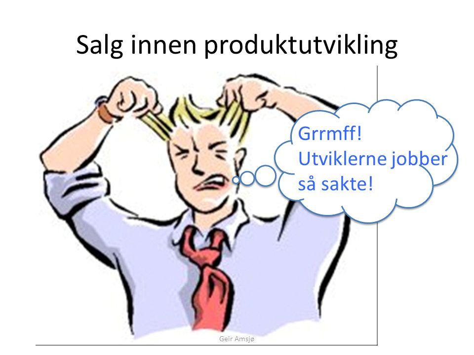 Hastverk er lastverk Geir Amsjø Cost of Change Time Ideal Cost of Change Real Cost of Change Technical Debt  Stor teknisk gjeld gjør det  umulig å estimere  vanskelig og tidkrevende å vedlikeholde  tungt å respondere på markedsendringer