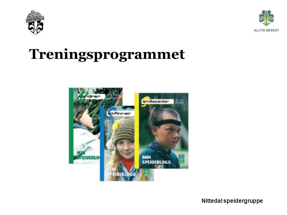 Nittedal speidergruppe Treningsprogrammet