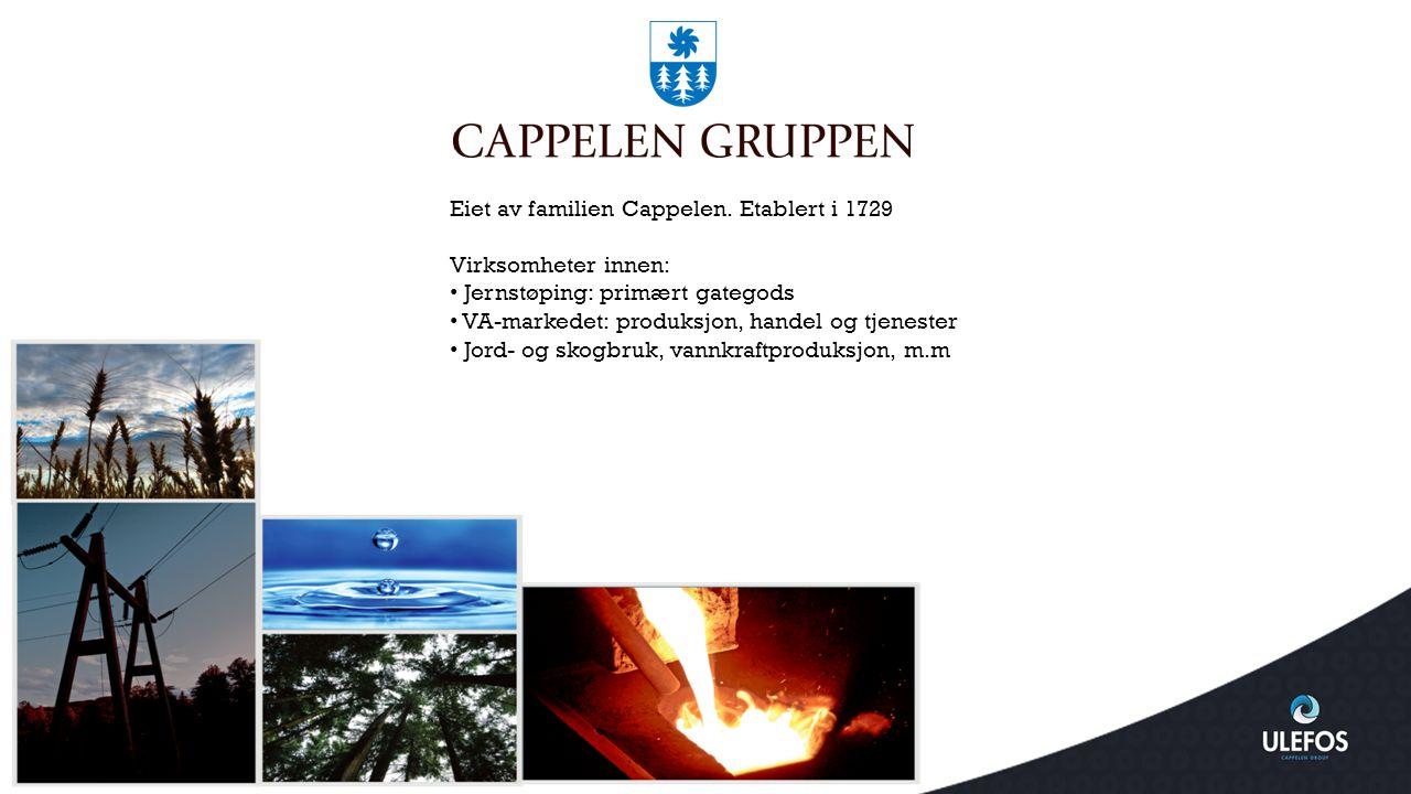 Ulefos Esco AS Nøkkeltall Ansatte: 86 Kapasitet:180 000 stk ventiler og bakkekraner ISO 9001 certification ISO 14001 certification Grunnlagt i 1877 - en av Nordens ledende produsenter av ventiler, armaturer og rørdeler.