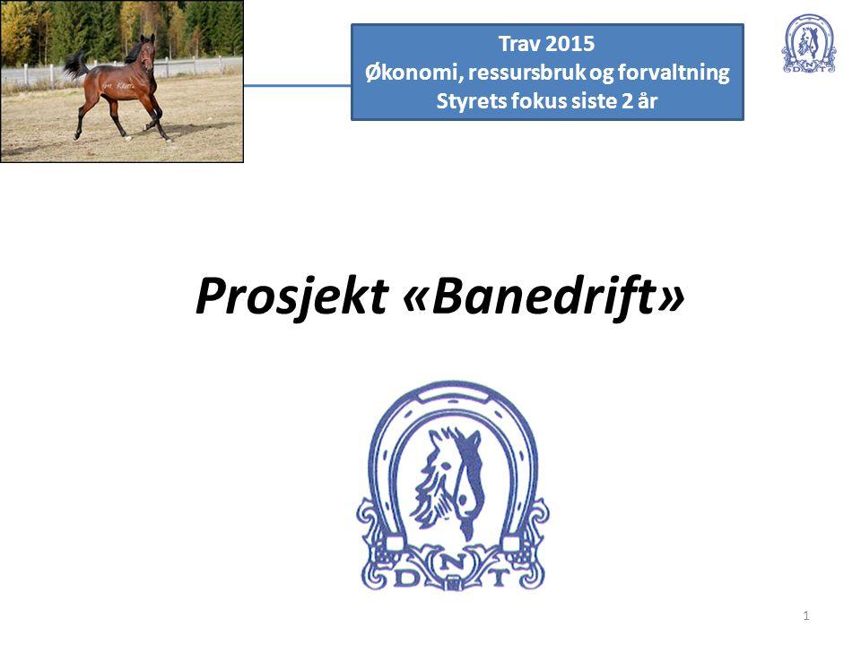 Prosjekt «Banedrift» 1 Trav 2015 Økonomi, ressursbruk og forvaltning Styrets fokus siste 2 år
