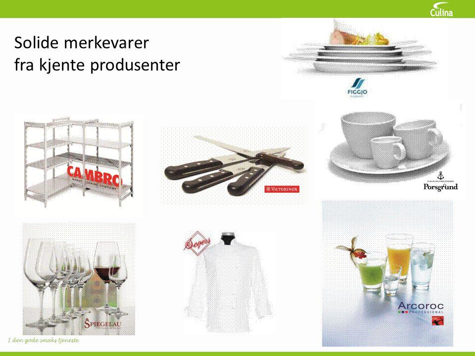 Solide merkevarer fra kjente produsenter