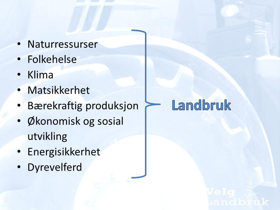 • I Norge skifter ca 800 landbrukseiendommer eier hvert år • Det utdannes årlig under 400 agronomer • Dette gir et agronomunderskudd på 400 hvert eneste år.