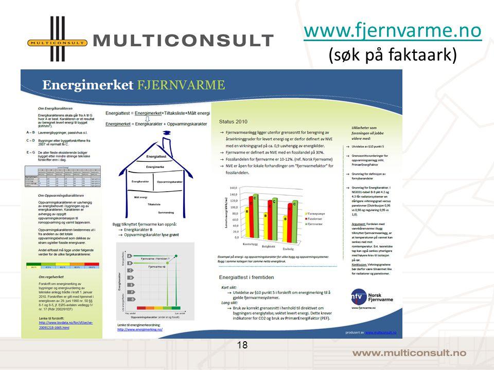 Faktaark om energiattesten www.fjernvarme.no www.fjernvarme.no (søk på faktaark) 18