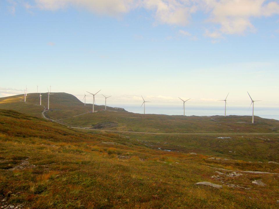 Fakta om Mehuken vindpark • Mehuken I – Konsesjon 1997 – Kjøpt Vardar/Østfold Energi 2000 – I drift des 2001 (Norges største) – 5 stk Vestas V52 (850