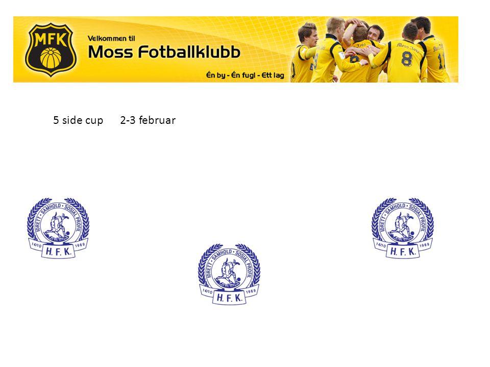 5 side cup 2-3 februar.
