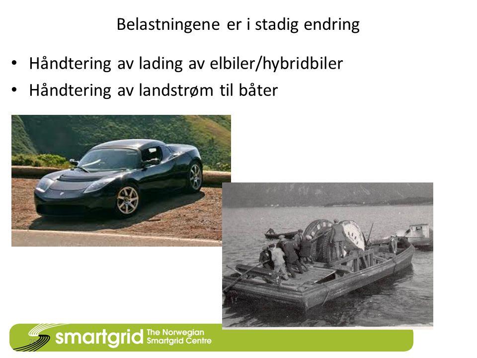 Belastningene er i stadig endring • Håndtering av lading av elbiler/hybridbiler • Håndtering av landstrøm til båter 29