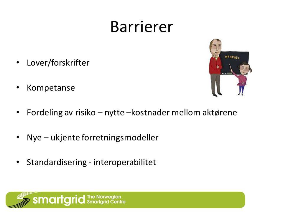 Barrierer • Lover/forskrifter • Kompetanse • Fordeling av risiko – nytte –kostnader mellom aktørene • Nye – ukjente forretningsmodeller • Standardisering - interoperabilitet 31