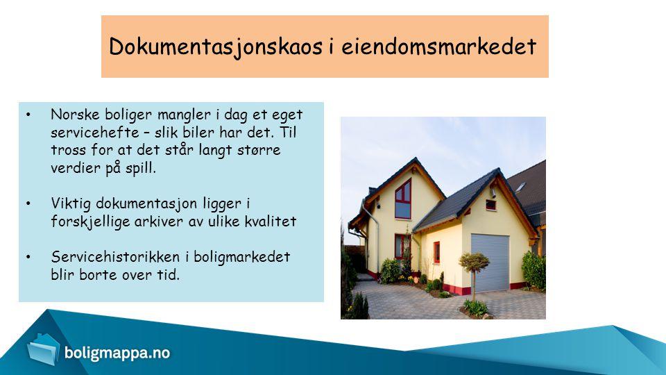 Dokumentasjonskaos i eiendomsmarkedet • Norske boliger mangler i dag et eget servicehefte – slik biler har det. Til tross for at det står langt større