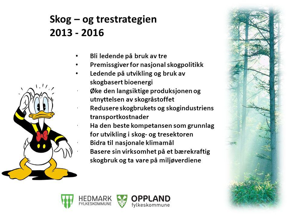Verdiskapingspotensial: Med en like høy avvirkningsgrad av norsk skog som i Sverige kunne verdiskapingen i skog- og trenæringen vært 50 mrd NOK* 30 – 10 - 3 *Forutsatt at resten av næringen ville hatt tilsvarende vekst