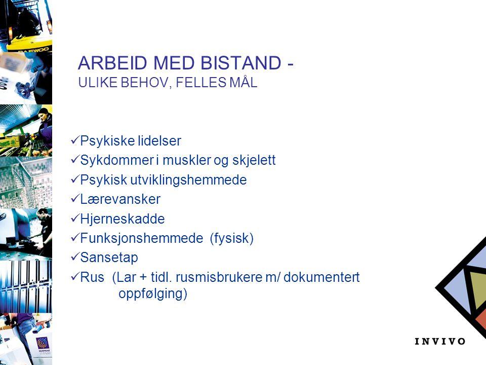 ARBEID MED BISTAND – UTVIKLING  Økt antall jobbkonsulenter (3-15)  Fra 5-12 deltakere pr.
