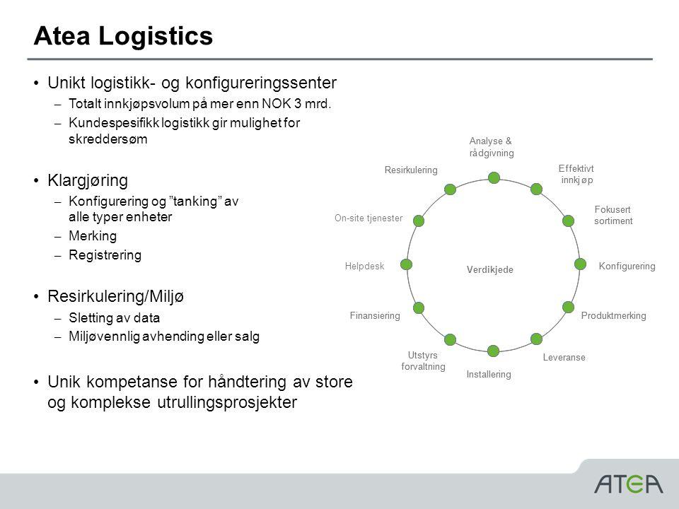 Atea Logistics • Unikt logistikk- og konfigureringssenter – Totalt innkjøpsvolum på mer enn NOK 3 mrd.