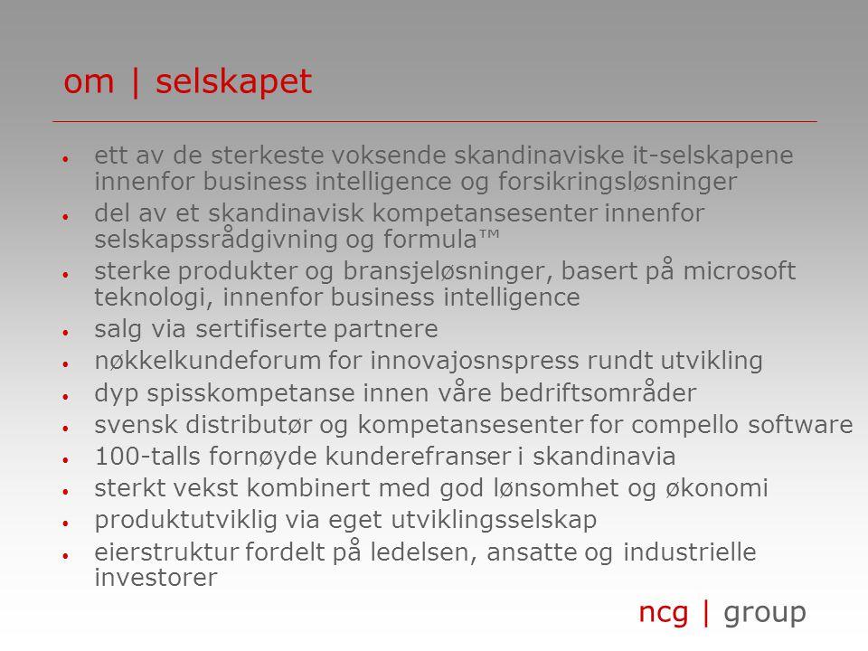 ncg | group om | selskapsstruktur produktutvikling distrtibutør av produkter via sertifiserte partnere ncg | group ncg | development ncg | sweden ncg | norway ncg | denmark