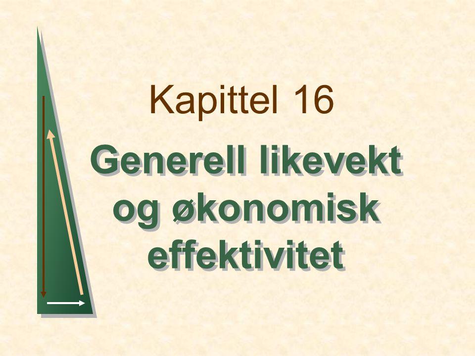 Kapittel 16 Generell likevekt og økonomisk effektivitet