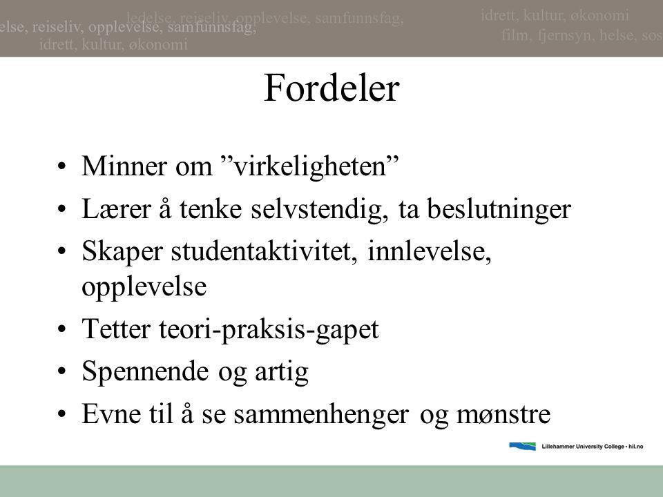 Faser i casearbeid 1.Problemdefinisjon •Hva er problemet/problemene.