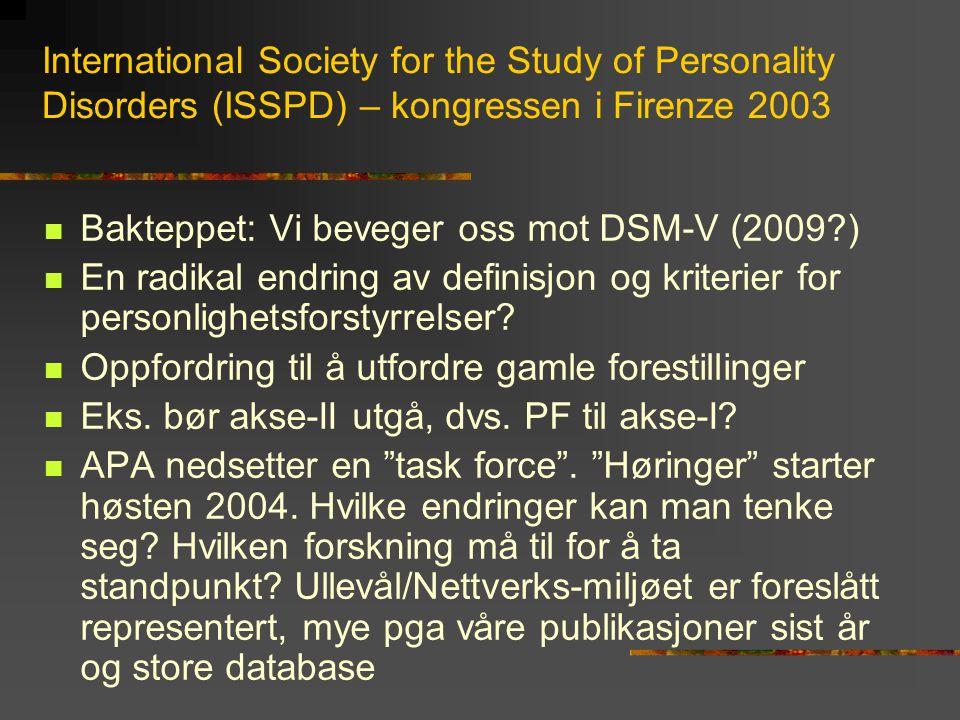Forløpsundersøkelse fra Colloborative Longitudinal Study of Personality Disorders (Shea et al.