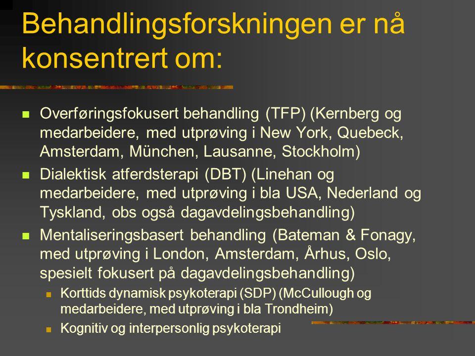 Personlighets- poliklinikken Ullevål Randomisering Dagavd.