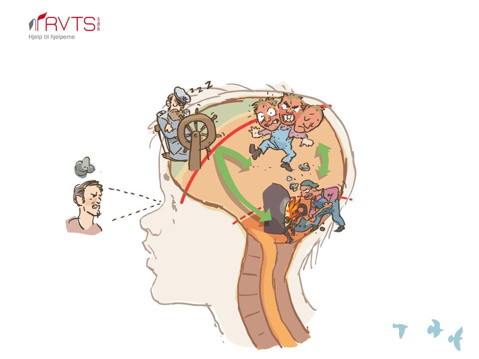 Maskinist Følelser Kaptein Fornuft Fyrbøter Sanser/akt Rytme, balanse, respirasjon, kroppsbevissthet, koordinasjon Relasjon, tillit, godhet, nærvær, følelsesbevissthet Forståelse, refleksjon, kontroll