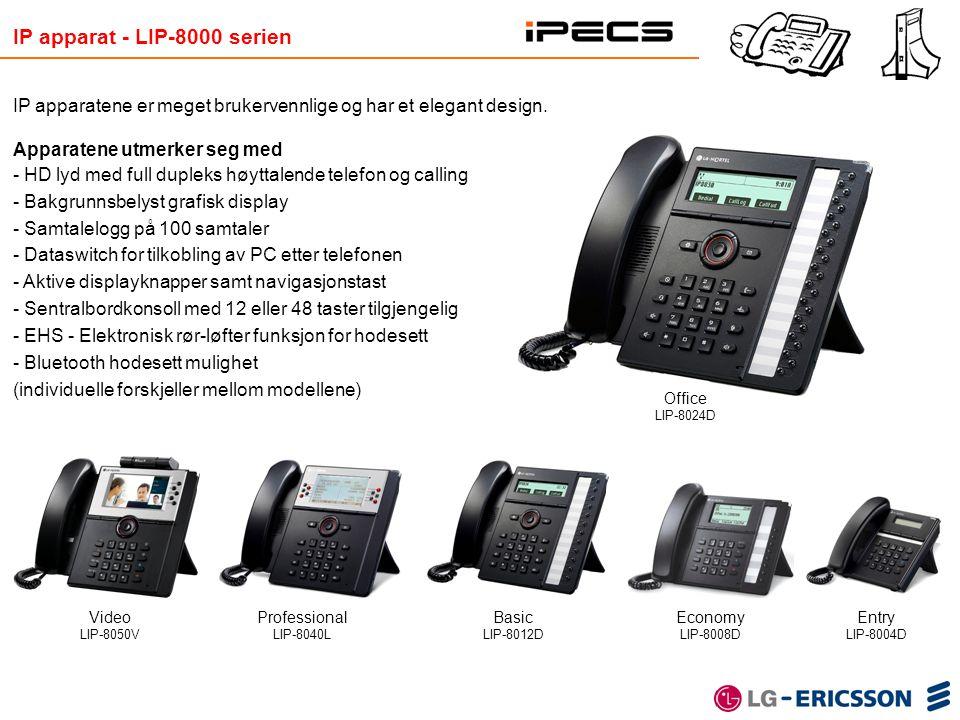 Basic LIP-8012D IP apparat - LIP-8000 serien IP apparatene er meget brukervennlige og har et elegant design. Apparatene utmerker seg med - HD lyd med