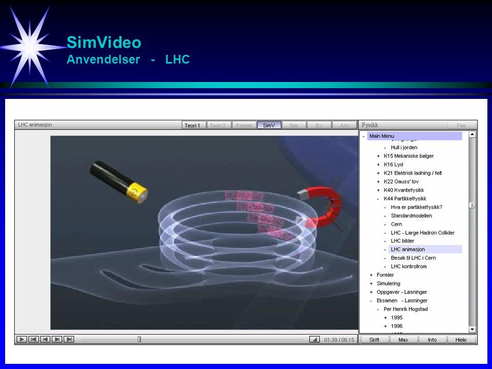 SimVideo Anvendelser - LHC