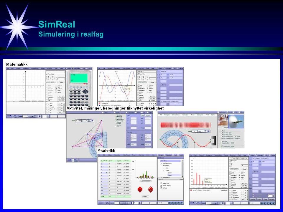SimVideo Fagside Videoforelesninger / Videosimuleringer / Interaktive simuleringer / Oppgavegjennomgang / Anvendelser