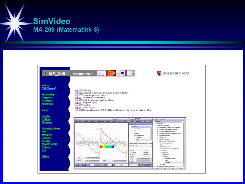 SimVideo MA-209 (Matematikk 3)