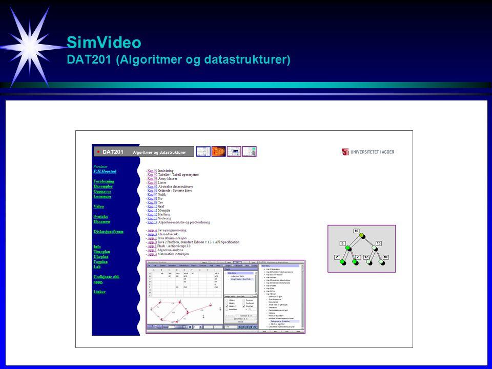 SimVideo DAT201 (Algoritmer og datastrukturer)