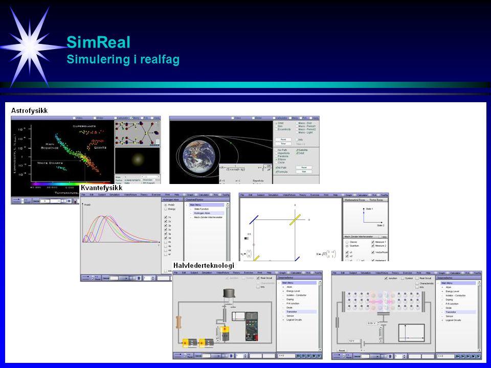SimVideo Videoforelesning / Videosimuleringer / Interaktive simuleringer / Oppgavegjennomgang / Anvendelser