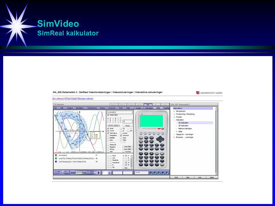 SimVideo SimReal kalkulator