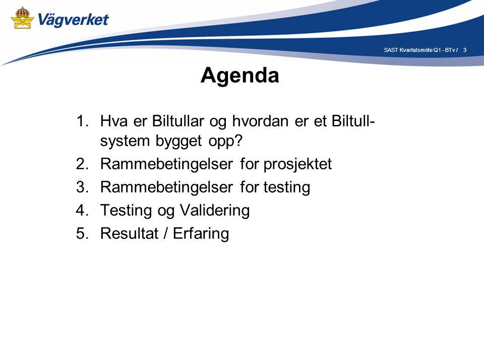 3 Agenda 1.Hva er Biltullar og hvordan er et Biltull- system bygget opp.
