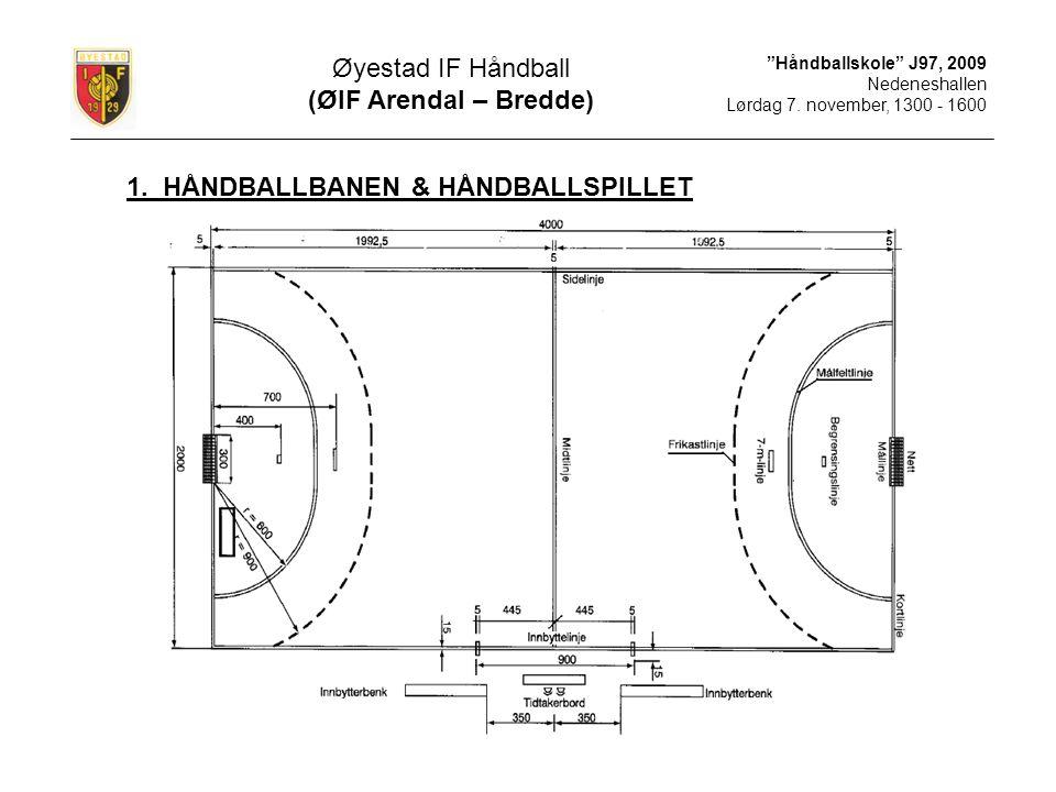 Håndballskole J97, 2009 Nedeneshallen Lørdag 7.november, 1300 - 1600 1.