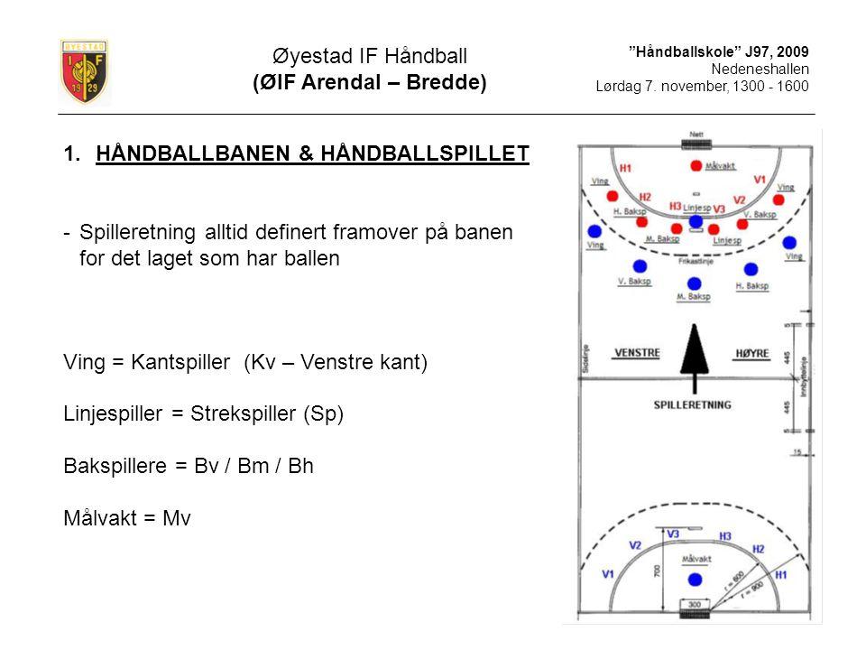 Håndballskole J97, 2009 Nedeneshallen Lørdag 7.