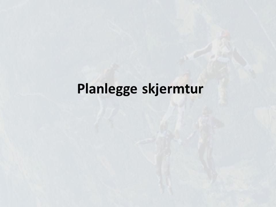 Planlegge skjermtur