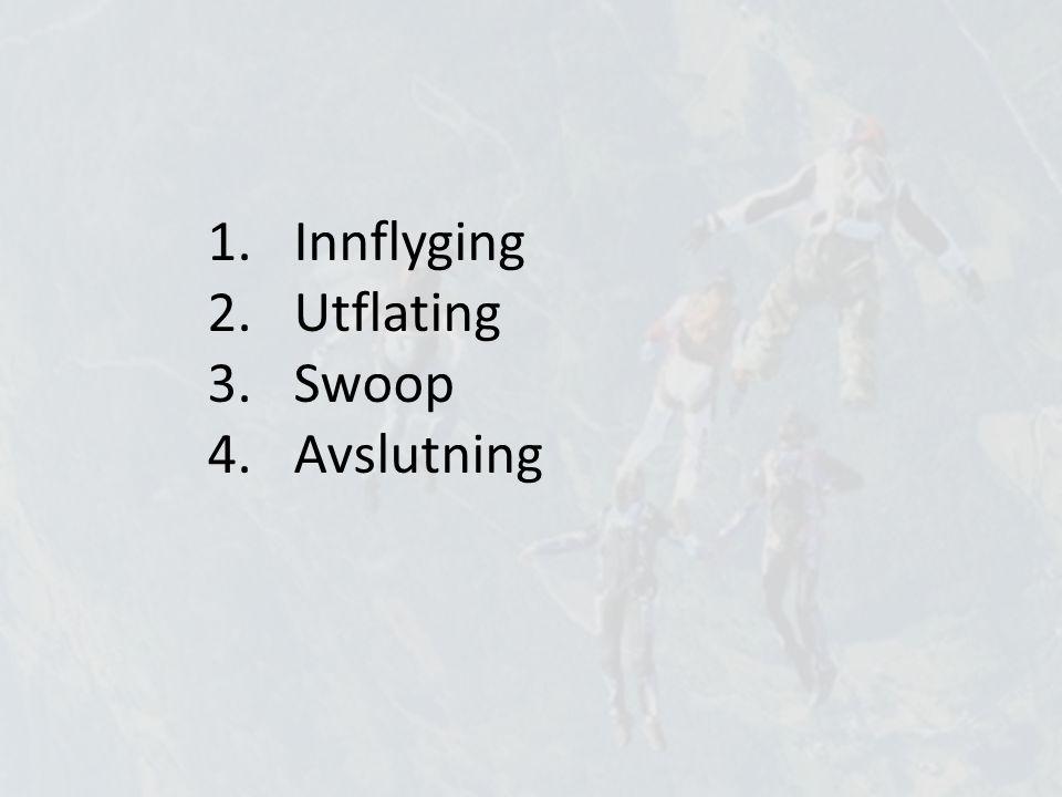 1.Innflyging 2.Utflating 3.Swoop 4.Avslutning