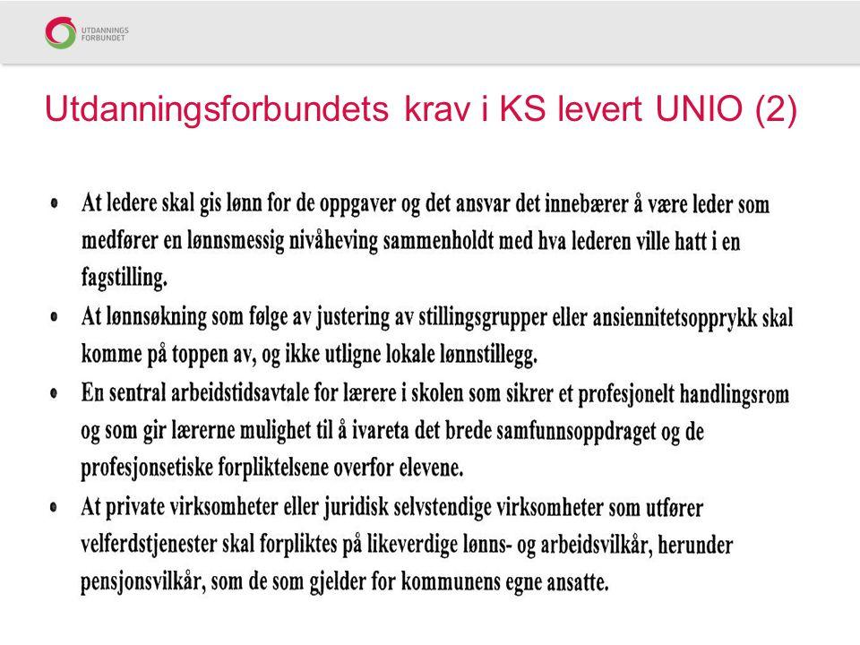 Utdanningsforbundets krav i KS levert UNIO (2)