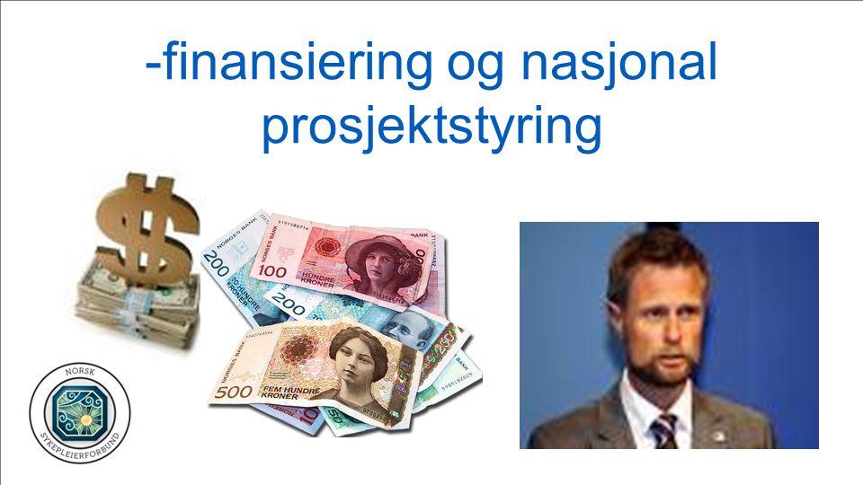 -finansiering og nasjonal prosjektstyring