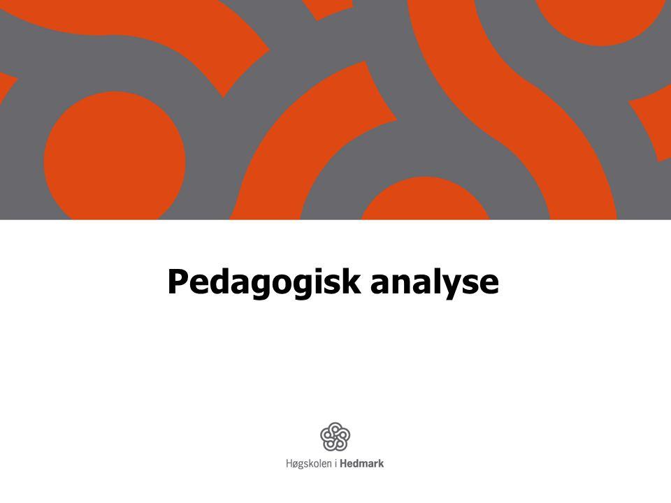 Pedagogisk analyse