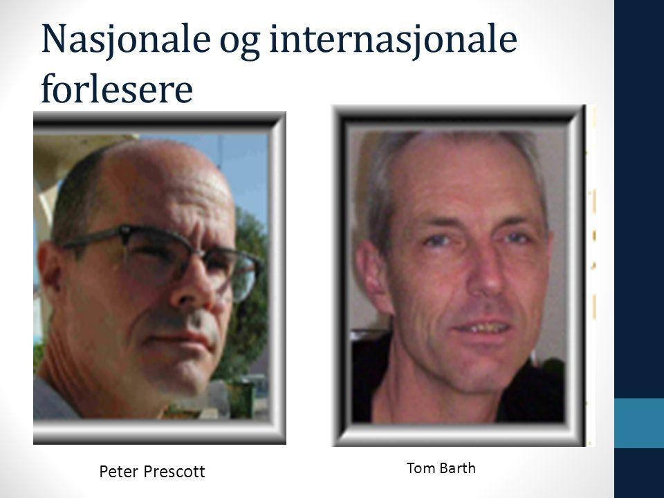 Nasjonale og internasjonale forlesere Peter Prescott Tom Barth