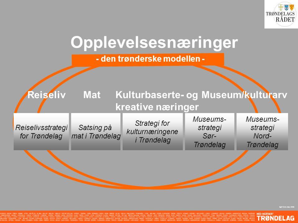 Opplevelsesnæringer - den trønderske modellen - Reiseliv MatKulturbaserte- og kreative næringer Museum/kulturarv Egil Furre des.
