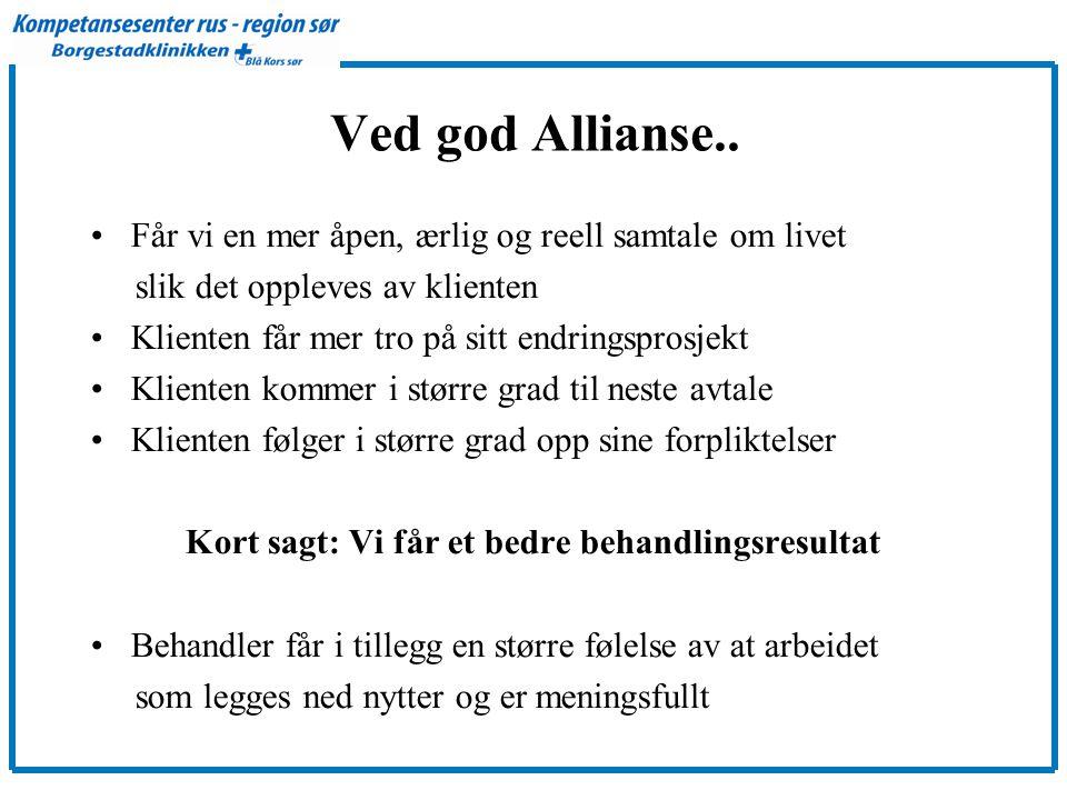 Ved god Allianse..