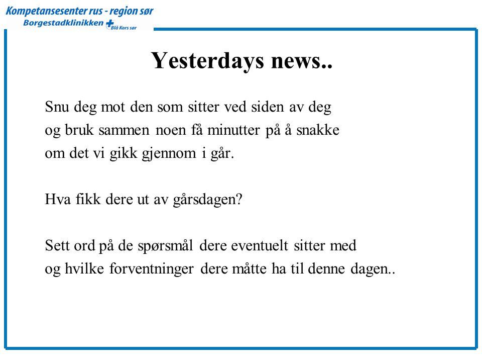 Yesterdays news..