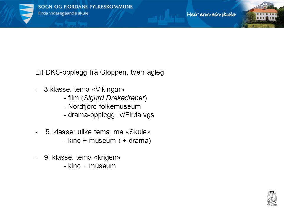 Eit DKS-opplegg frå Gloppen, tverrfagleg -3.klasse: tema «Vikingar» - film (Sigurd Drakedreper) - Nordfjord folkemuseum - drama-opplegg, v/Firda vgs -