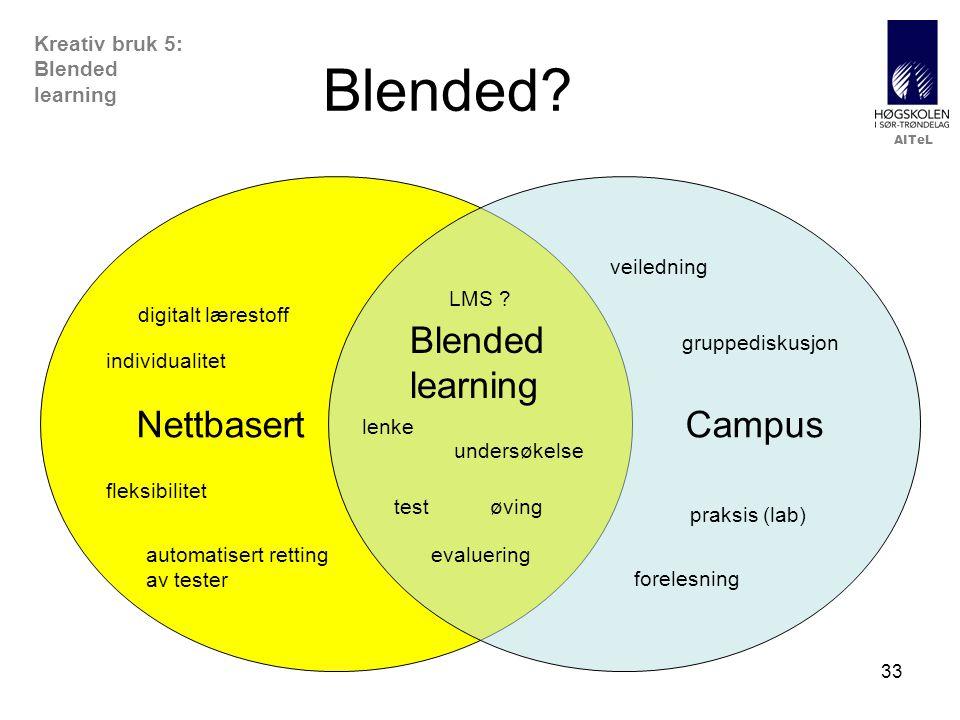 AITeL 33 Kreativ bruk 5: Blended learning Blended.