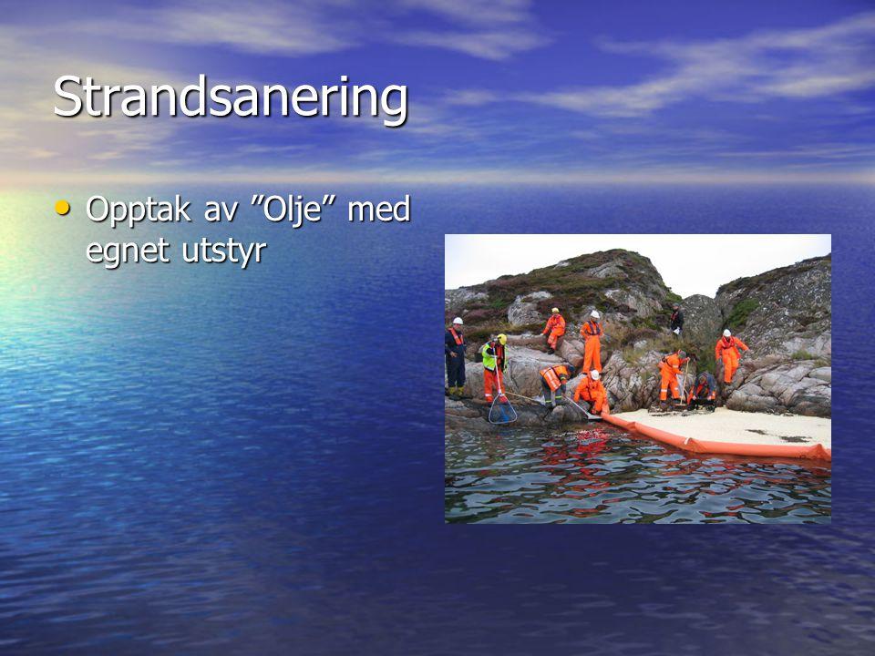 """Strandsanering • Opptak av """"Olje"""" med egnet utstyr"""
