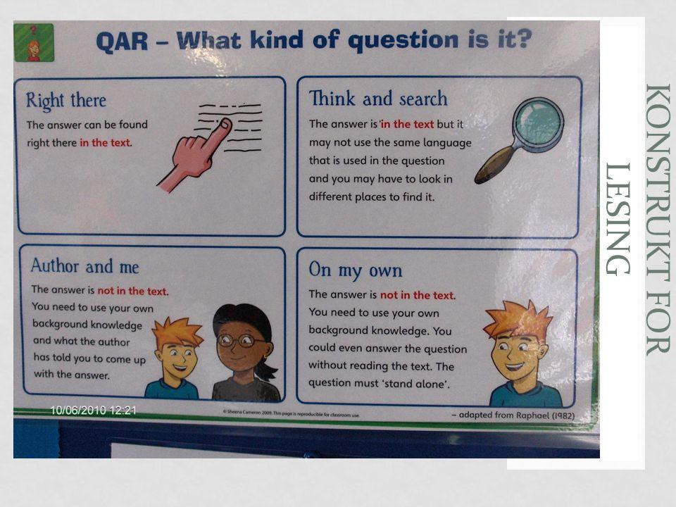 Vurdering for læring Konstrukt ( hva vi tenker om lesing) • Tekstene vi velger • Oppgavene vi gir • Svarene vi fokuserer på • Hvordan vi tolker svarene Disse valgene baseres på en teoretisk og/eller empirisk forankring OECD -PISA IEA -PIRLS Assessing reading J Alderson