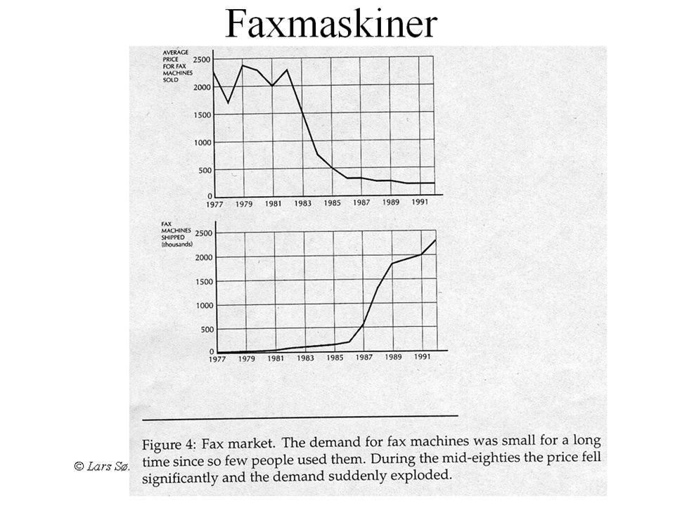 © Lars Sørgard Konkurransestrategi Hva blir likevekt? •Hvis over kritisk masse (N 0 ) av brukere •Etterspørselen 'tar av' monopol •Kan tippe mot monop