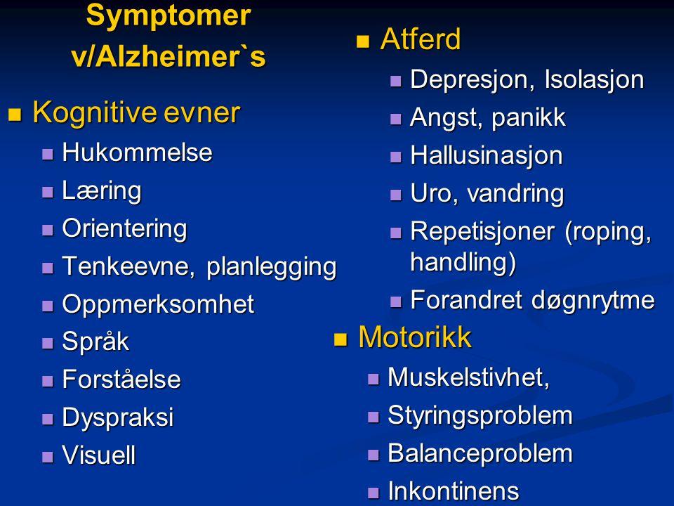 Utfordringer ved smerteevaluering  Demente klager mindre over smerte  Mindre smertediagnoser?/mindre smerte.