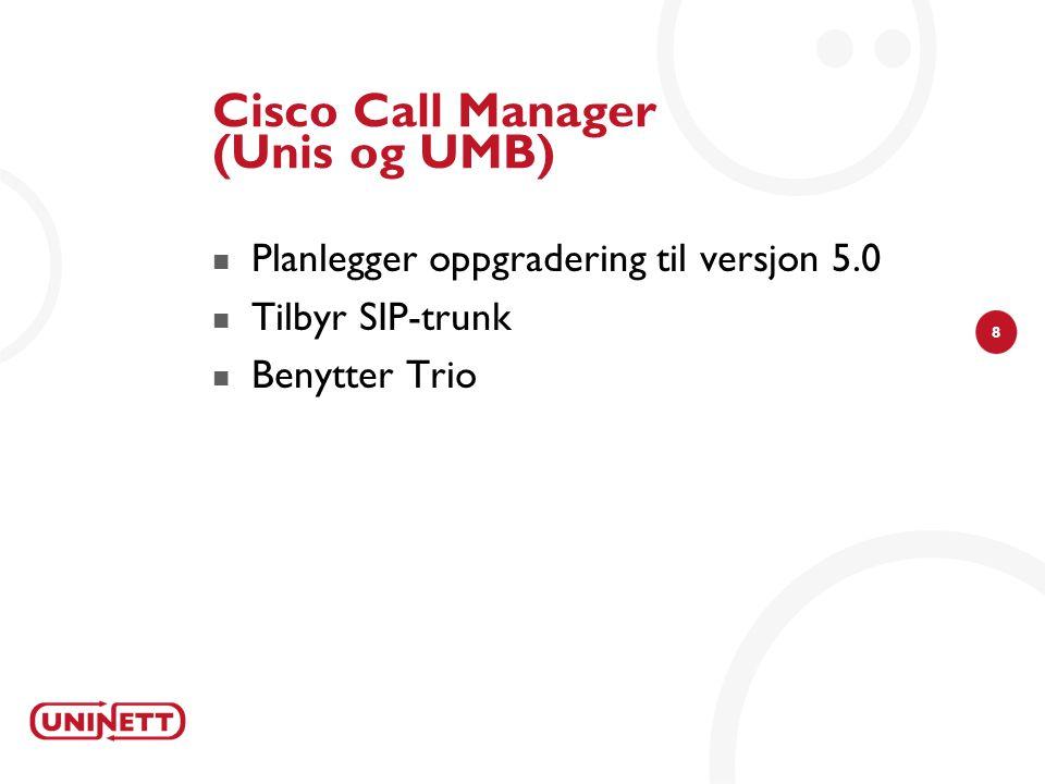 29  EN dual mode terminal ( Wifi - GSM)  PBXen styrer hvor forbindelsen rutes EMSEMS Bedriften MobilNettverk IPNettverk FastNettverk Mobility server Dual mode phone / Alcatel OmniPCX Enterprise