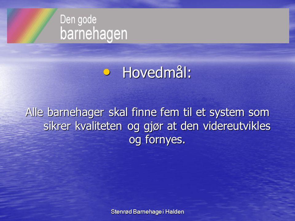 Stenrød Barnehage i Halden HVA LÆRTE VI • Her kommer våre lysbilder fra hovedvisningen med essensen fra vårt arbeid med vurderingsarbeid i barnehagen.